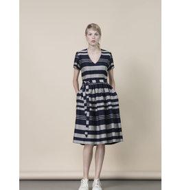 Jennifer Glasgow Gambia Fit Flare Dress Blue
