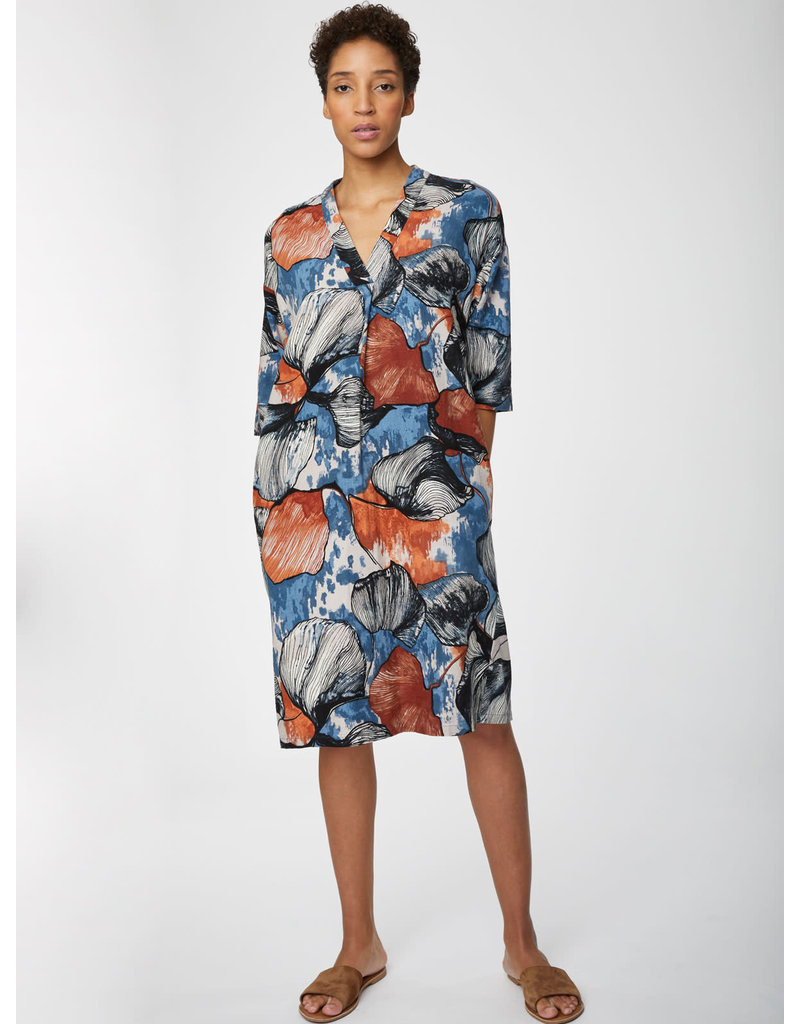 Thought Lyme Shift Dress Blue Print