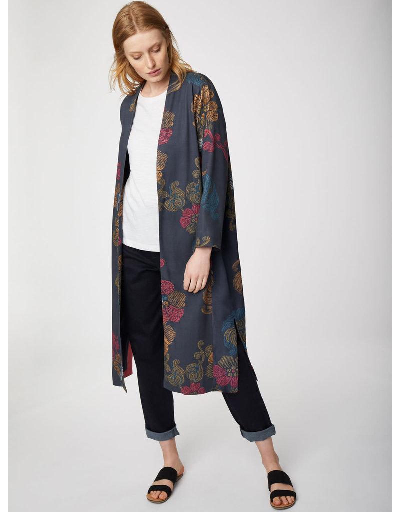 Thought Marrina Long Jacket Navy Print