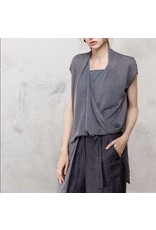 Colour 5 Layered Top with Cami Grey