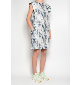 Pan Sleeveless Dress Blue Print