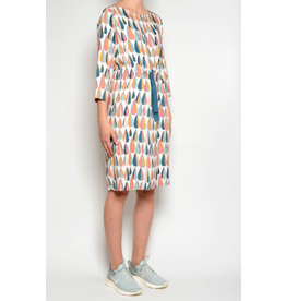 Pan Drawstring Dress Blue/Orange