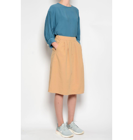 Pan Pleated Midi Skirt Camel