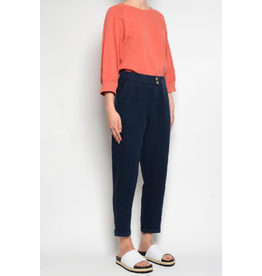 Pan Pleated Pants Marine Blue