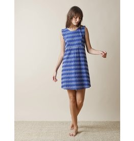 Indi & Cold Sleeveless Shift Dress Cobalt