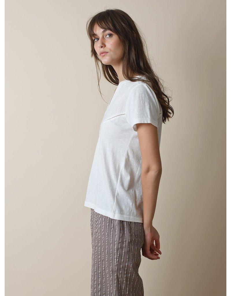 Indi & Cold Short Sleeve Blouse White