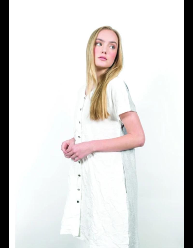 Shannon Passero Harlow Vneck Dress White/Grey