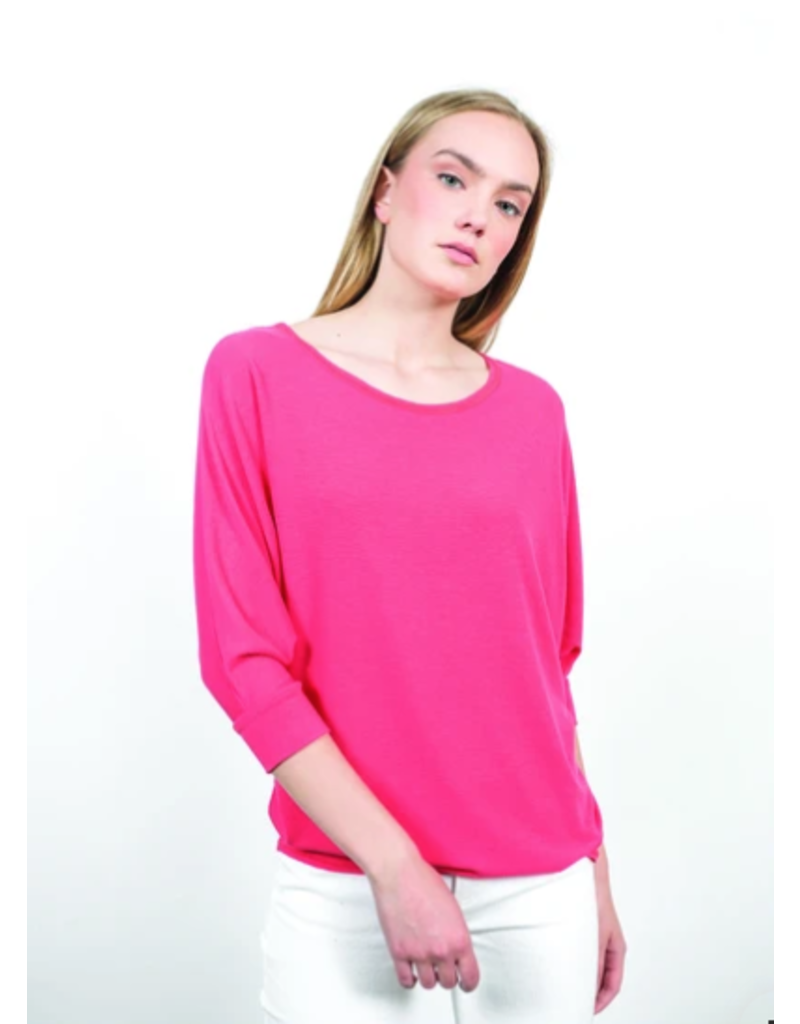 Shannon Passero Jessica Batwing Sleeve Top Coral