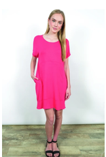 Shannon Passero Sydney Shortsleeve Dress Coral