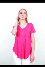 Shannon Passero Loren Vneck Tshirt Coral