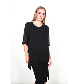 Shannon Passero Jasmine Layered Half Sleeve Top Black