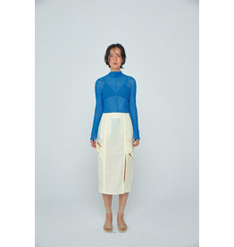 Wnderkammer Mockneck Sheer Top Blue