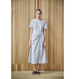 Maison De Ines Ruching Detail Midi Dress Gray