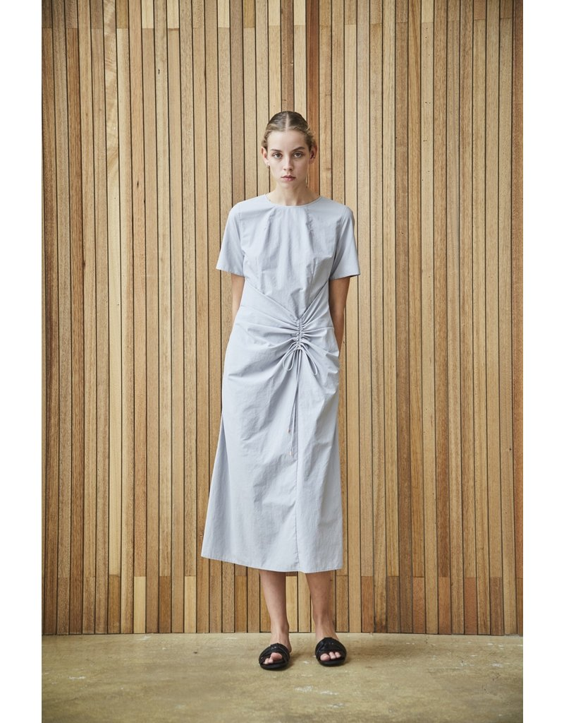 Maison De Ines Ruching Detail Midi Dress Gray