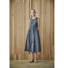 Maison De Ines Sleeveless Midi Dress Charcoal