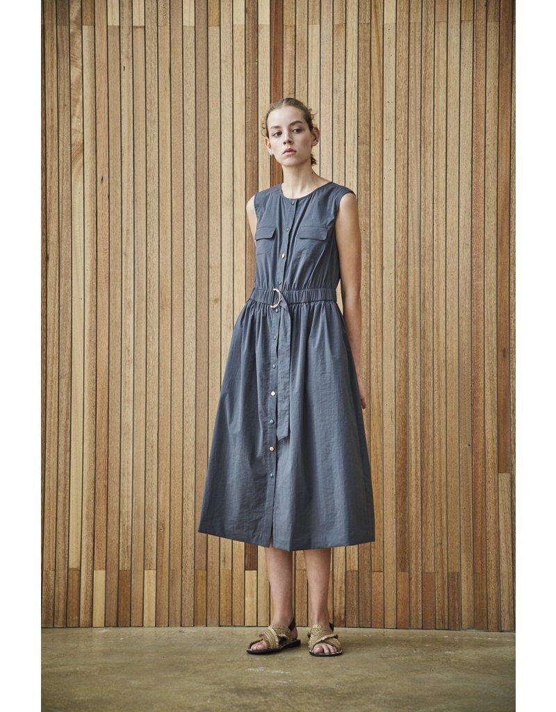 Maison De Ines Sleeveless Midi Dress Charcoal