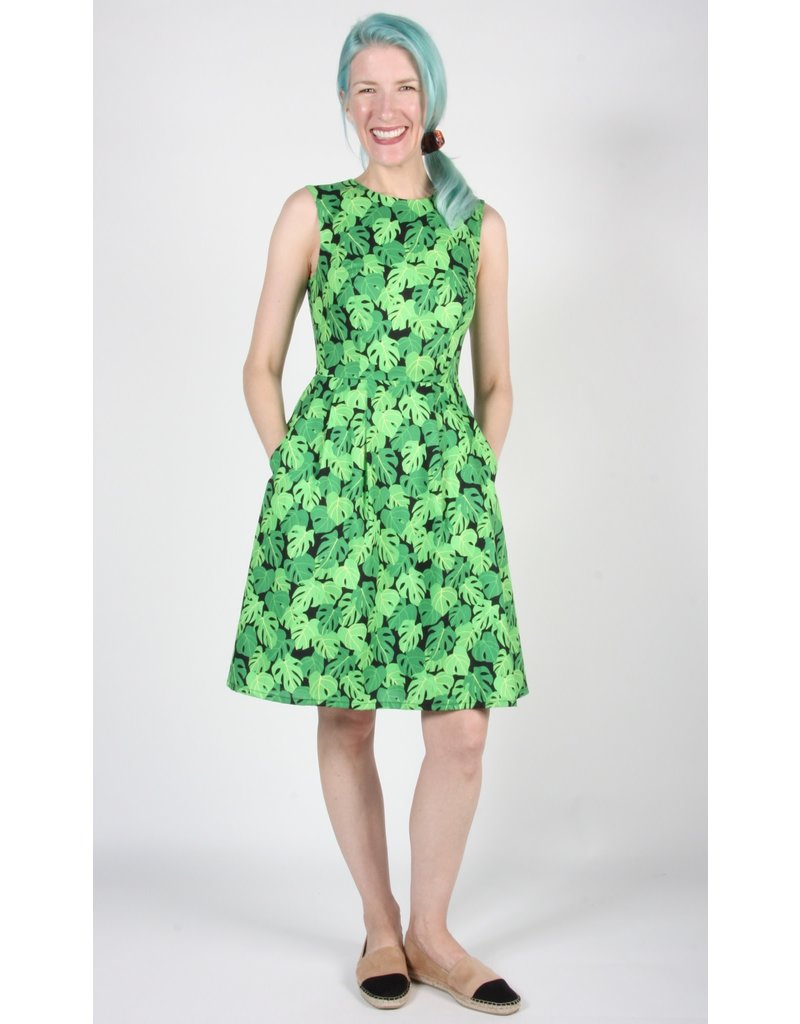 Birds of North America Peafowl Dress Philodendron