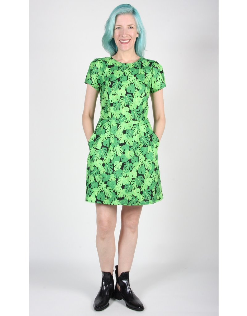 Birds of North America Engoulevent Dress Philodendron