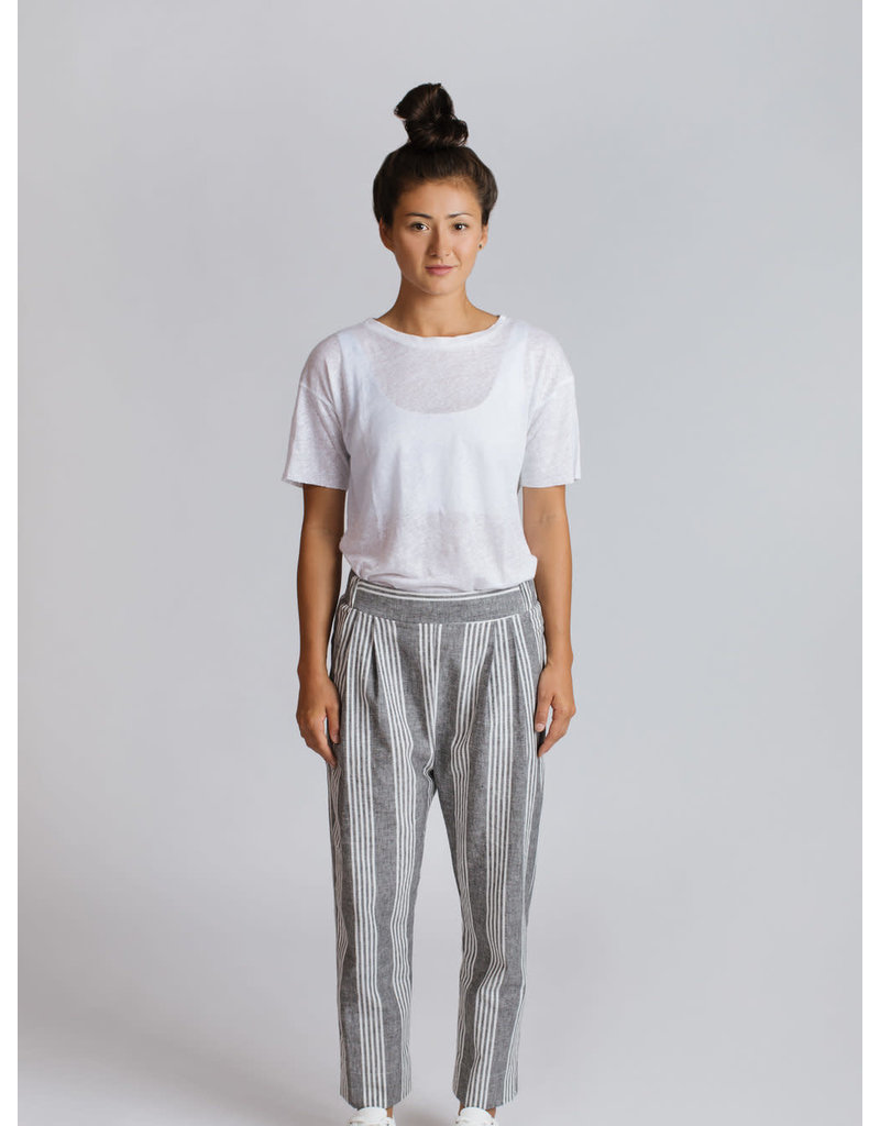 Allison Wonderland Riom Pants Grey Stripe