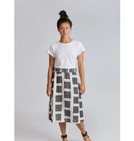 Allison Wonderland Lille Midi Skirt White/Black