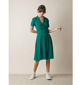 Indi & Cold Midi Fit Flare Dress Green