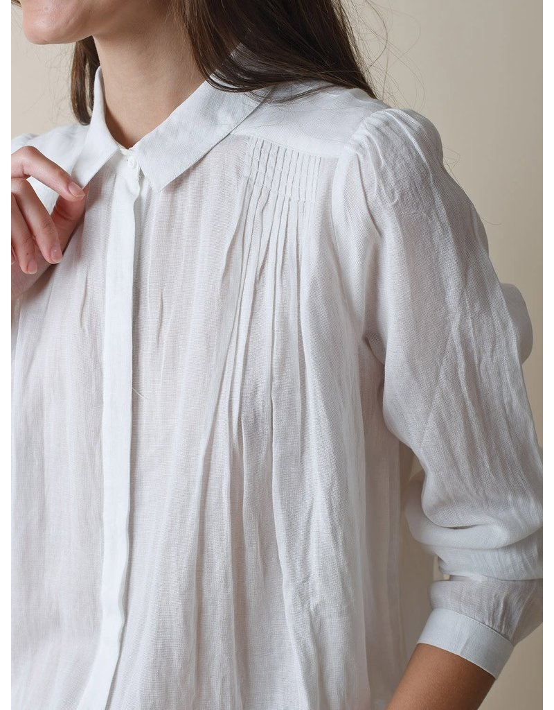 Indi & Cold Long Sleeve Button Down Top White