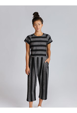 Allison Wonderland Avignon Jumpsuit Black Stripe