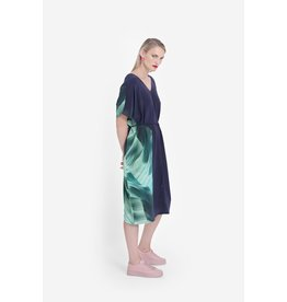 Elk Rindal Midi Vneck Dress Green Multi