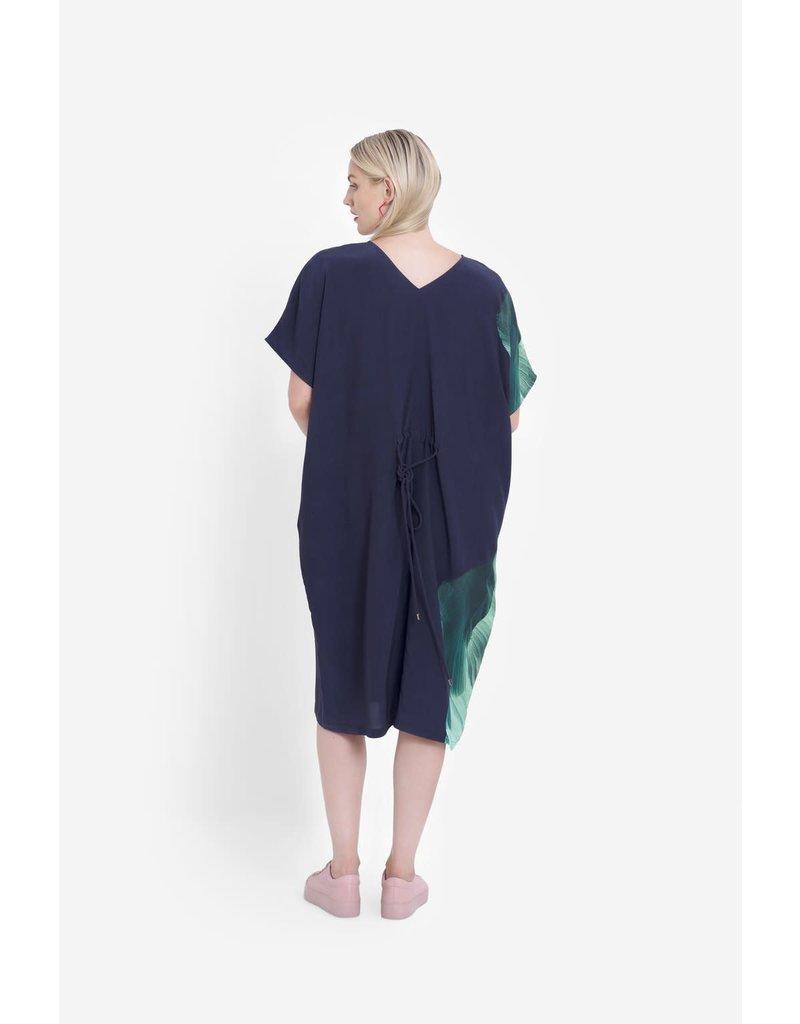 Elk Rindal Midi Vneck Dress Green Multi