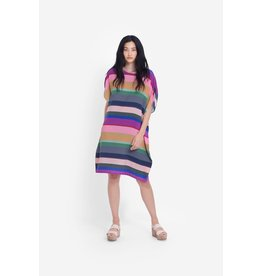 Elk Lysbro Shift Dress Stripe Print