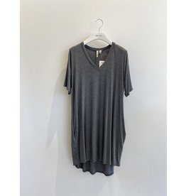 Shannon Passero Linda Vneck Dress Mid Grey