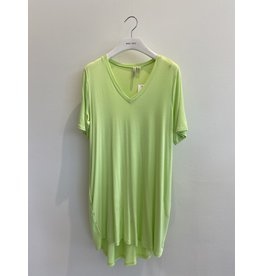 Shannon Passero Linda Vneck Dress Lime
