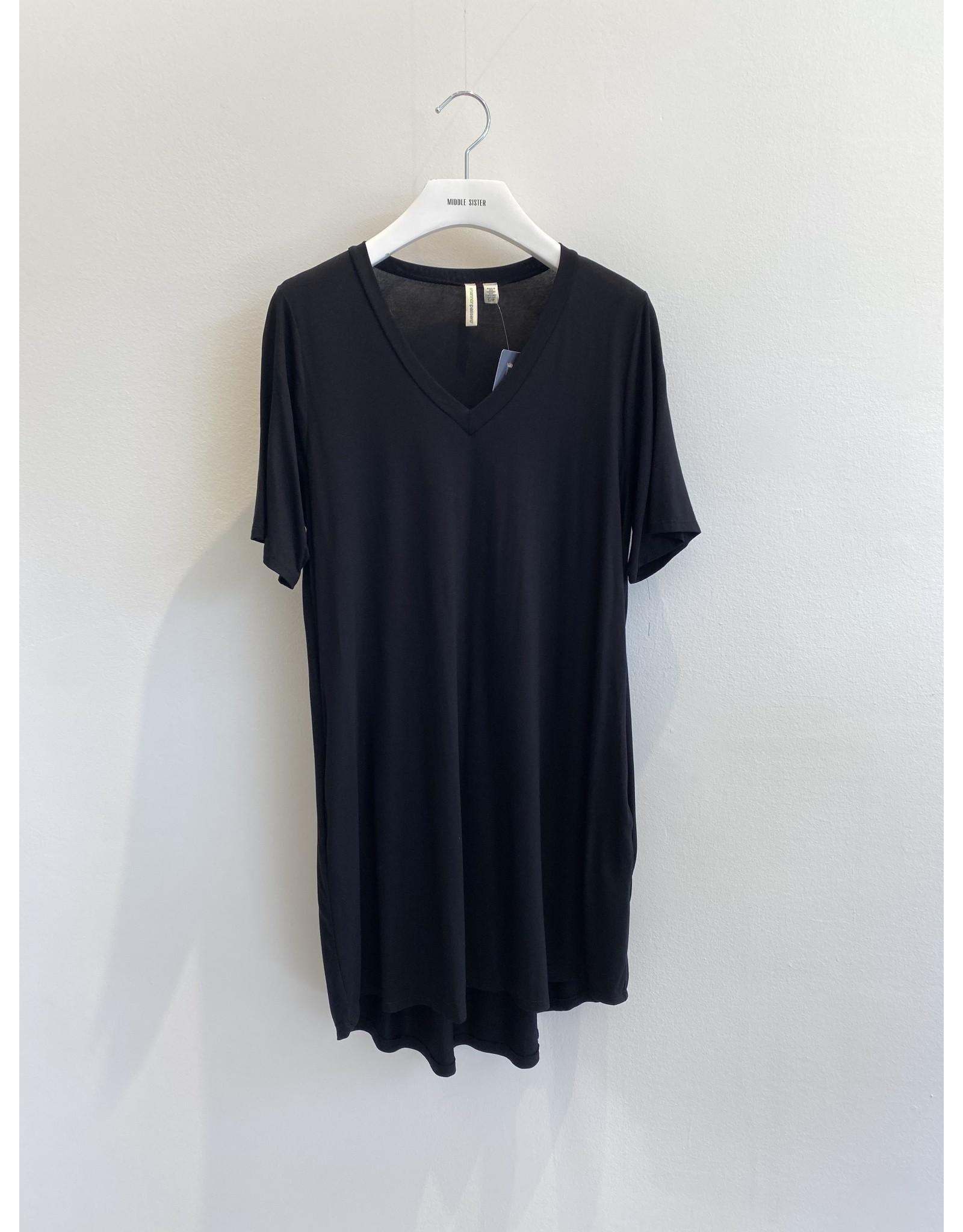 Shannon Passero Linda Vneck Dress Black