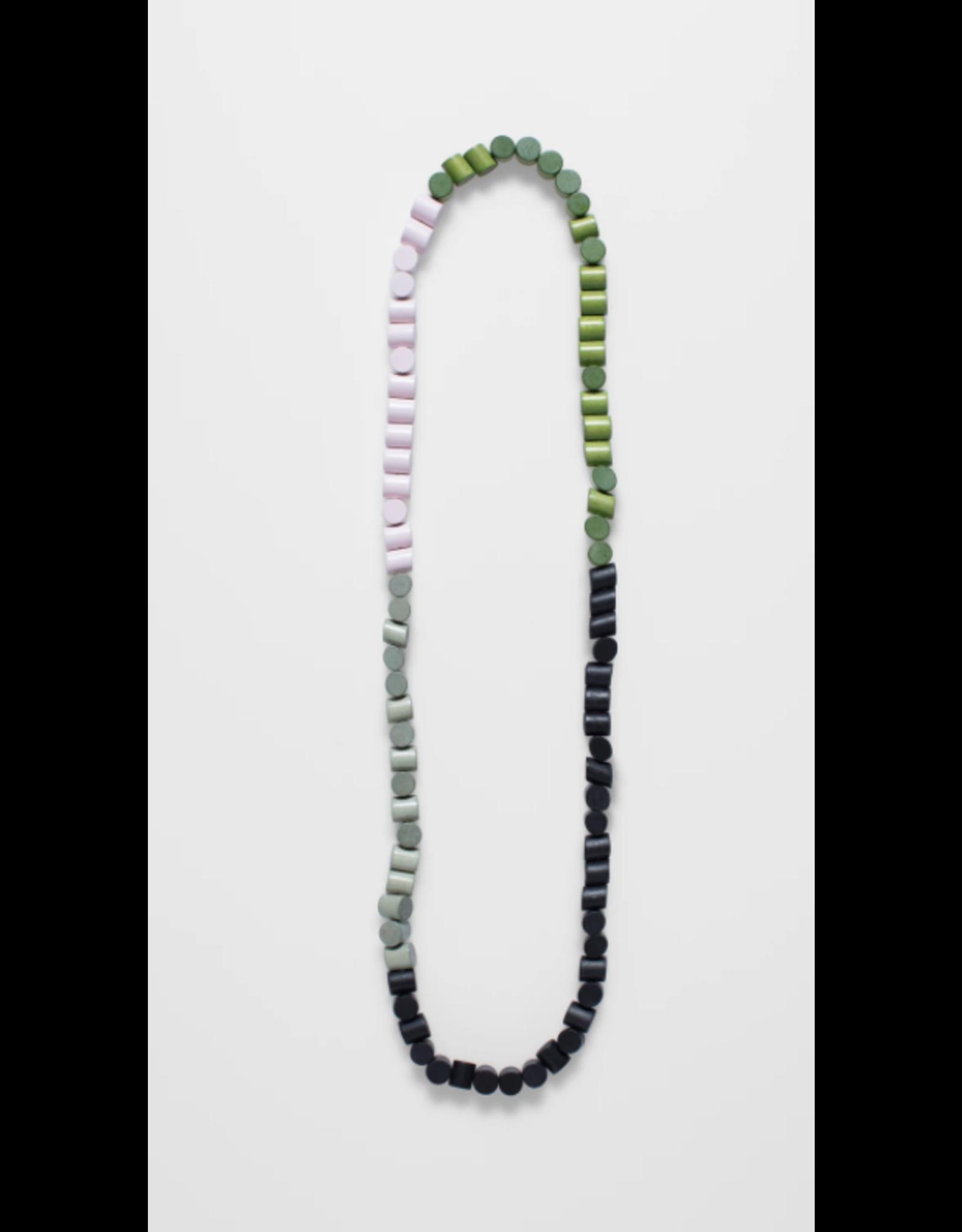 Elk Eda Necklace Long Lime Multi