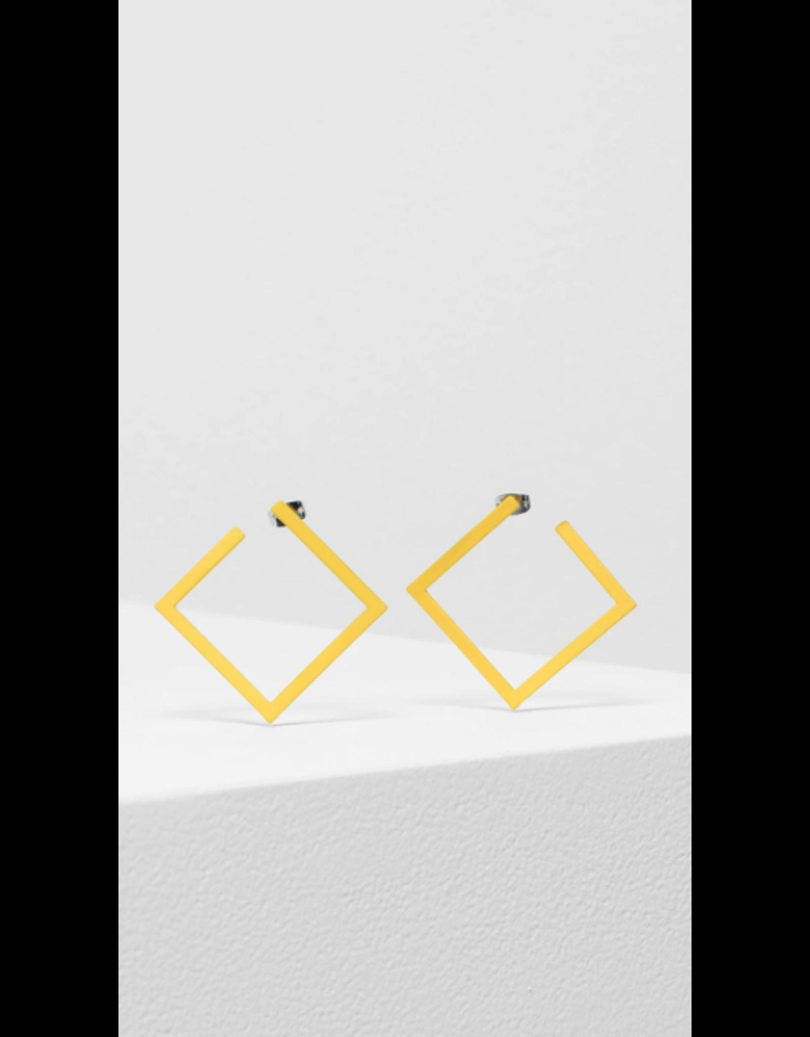 Elk Hitra Earring Square Yellow