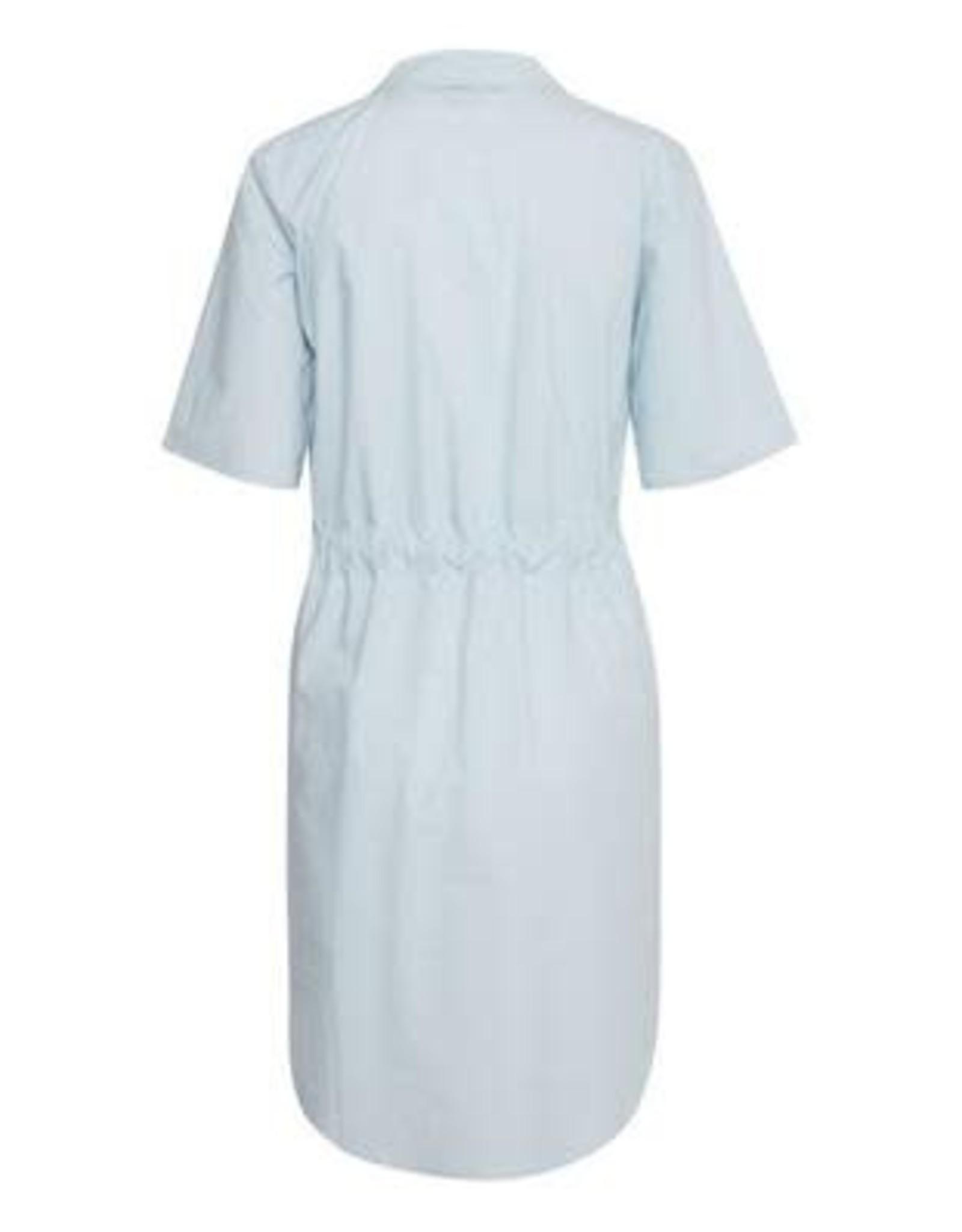 Ichi Inkala Shirt Dress with Tie Cool Blue