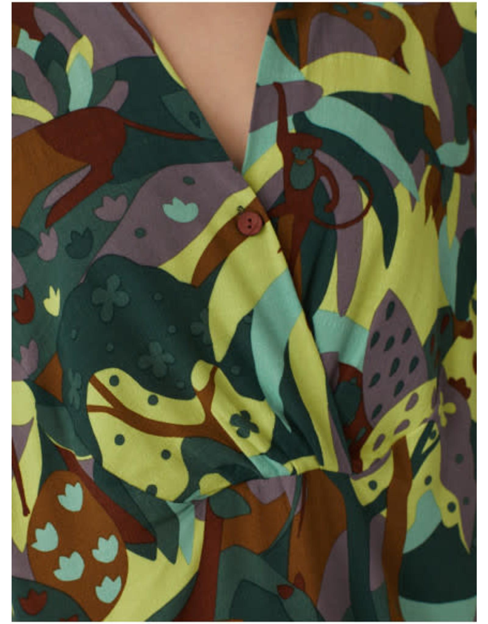 Nice Things Lost Paradise Dress Green Print