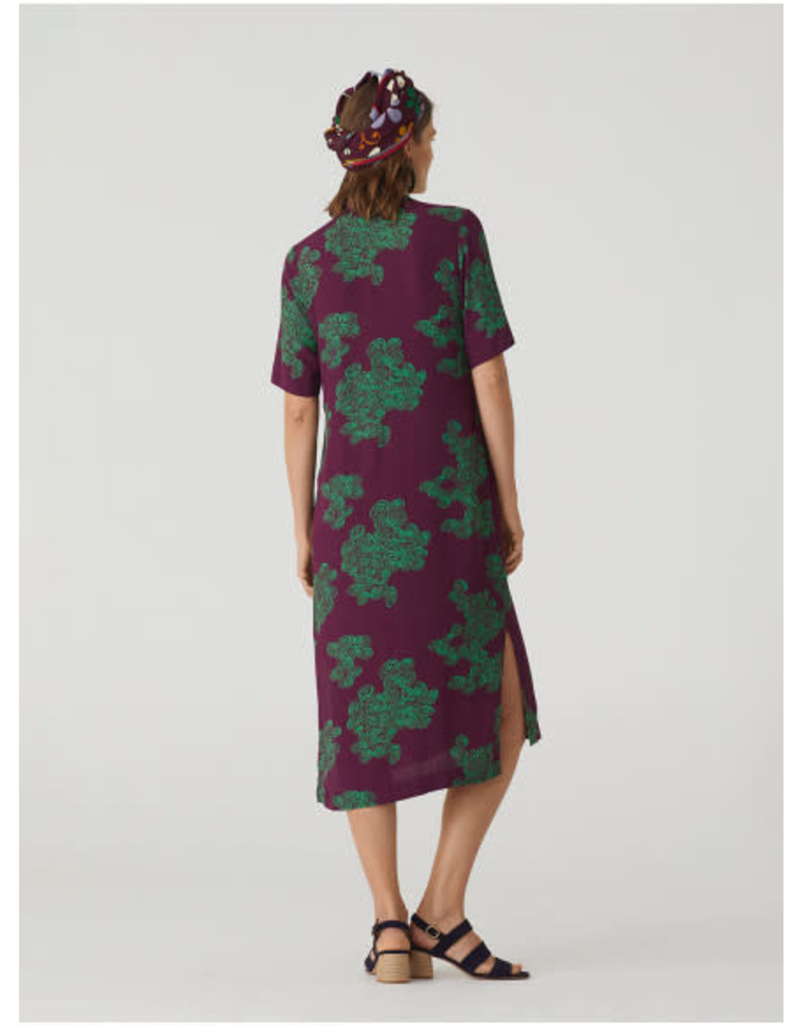 Nice Things Spirals Dress Eggplant Print