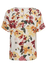 Ichi Brunsa Short Sleeve Blouse Floral