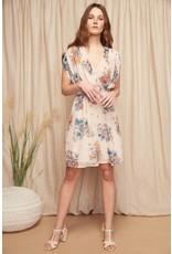 Louizon Joshua Dress Cream Print