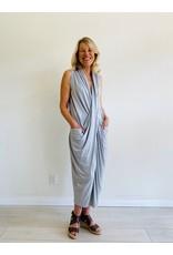 Ayrtight Royce Rhodes Maxi Ruched Dress Light Grey