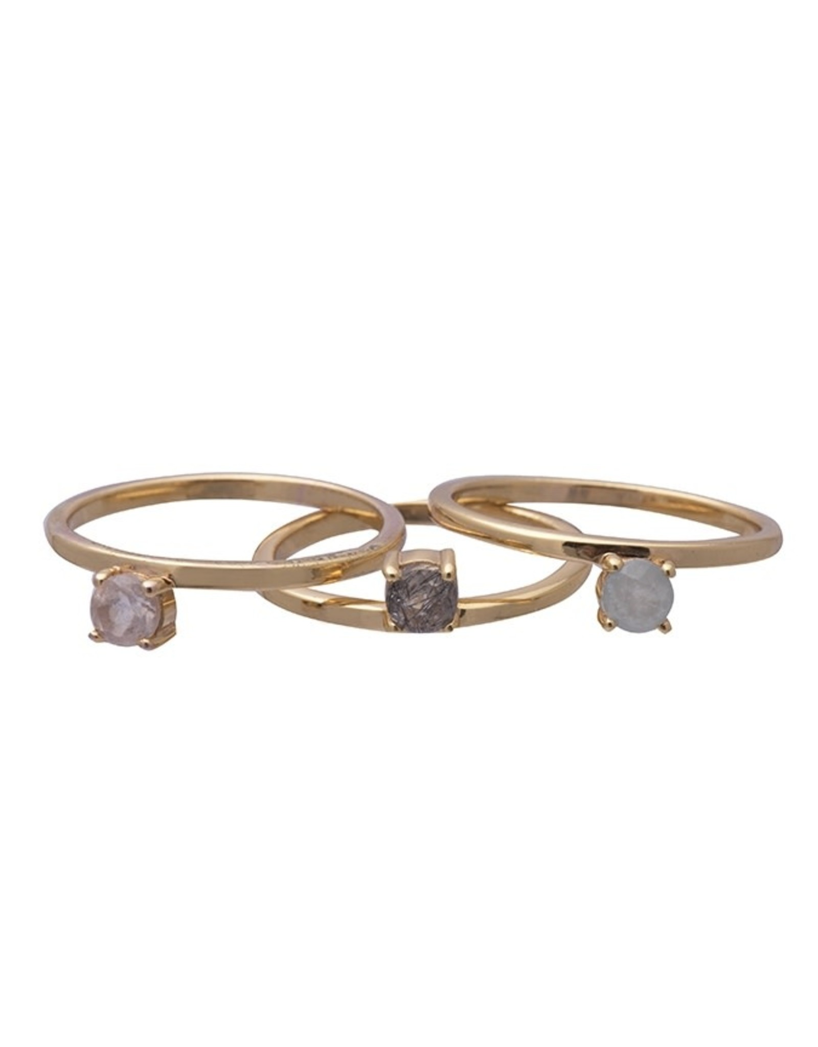 Sarah Mulder Obsession Gold Ring (Moonstone or Labradoriate) Size 7