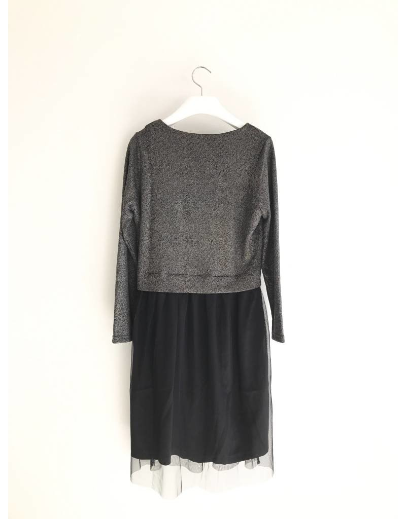 Bonsui Glitter Mesh Dress
