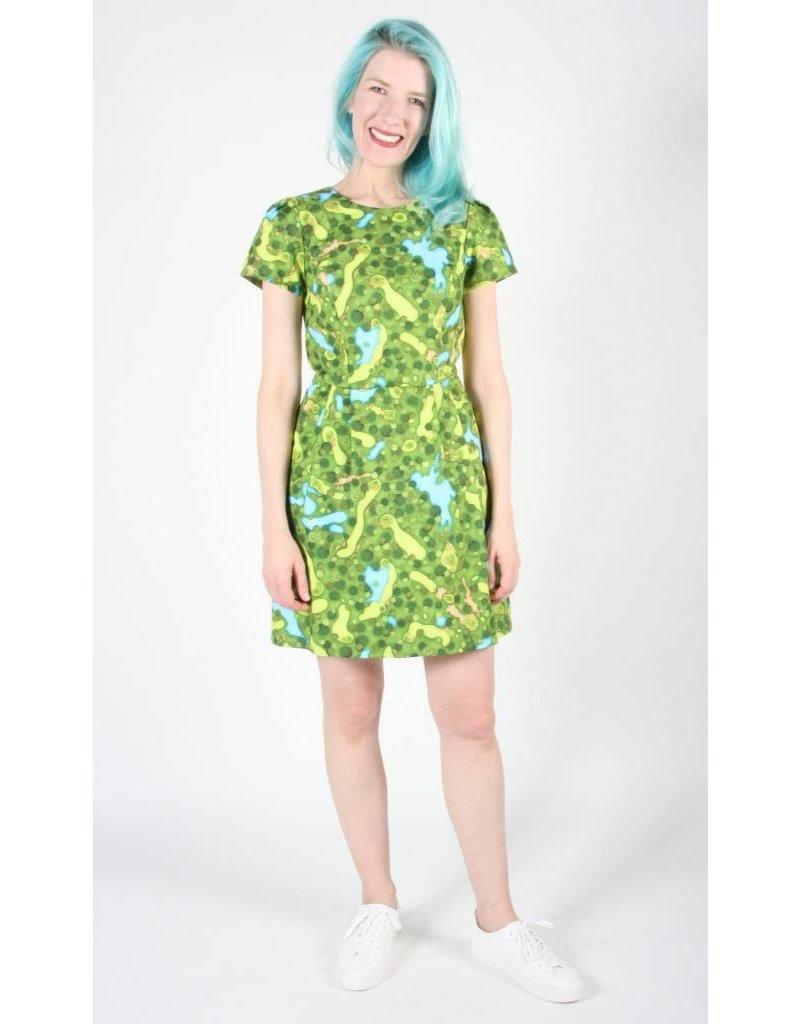 Birds of North America Kittiwake Golf Green Dress