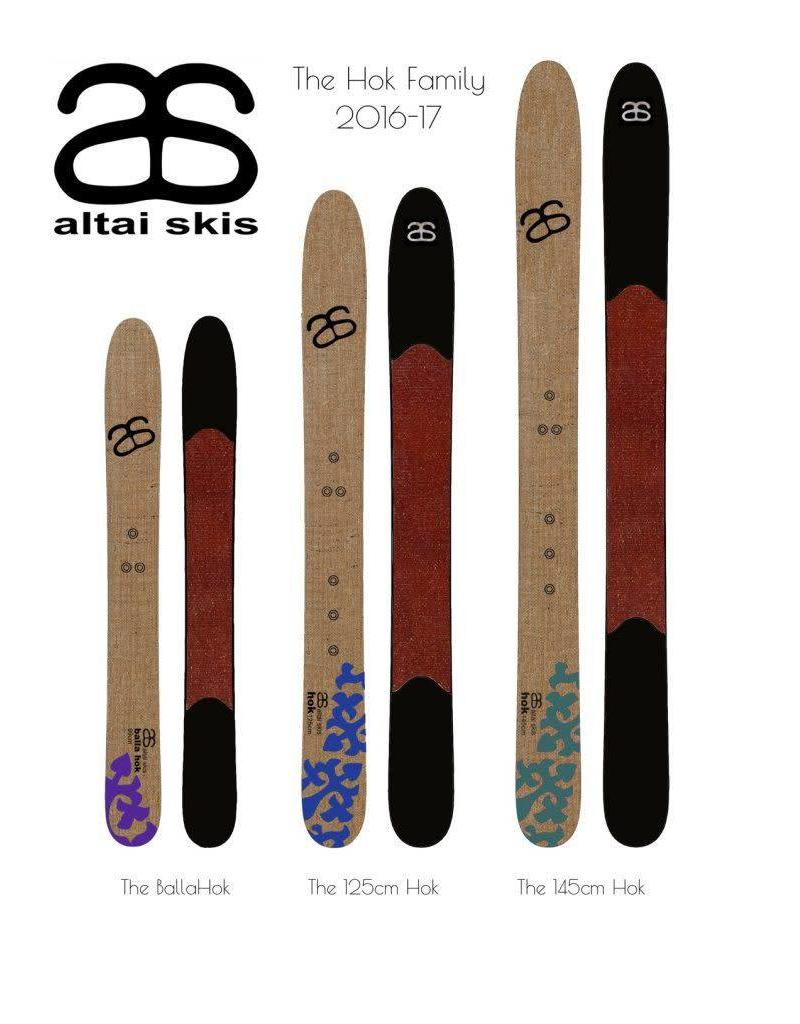 Skis Hok Altai + Fixations universelles