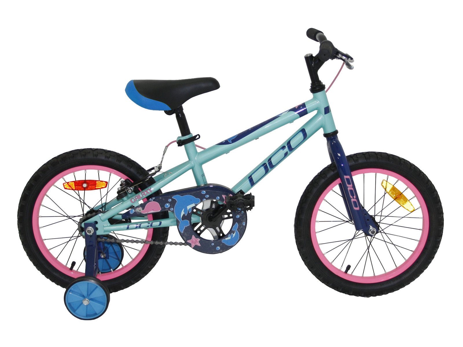 27c84a66754 Vélo DCO Galaxy 16'' JR Fille 2019 Turquoise
