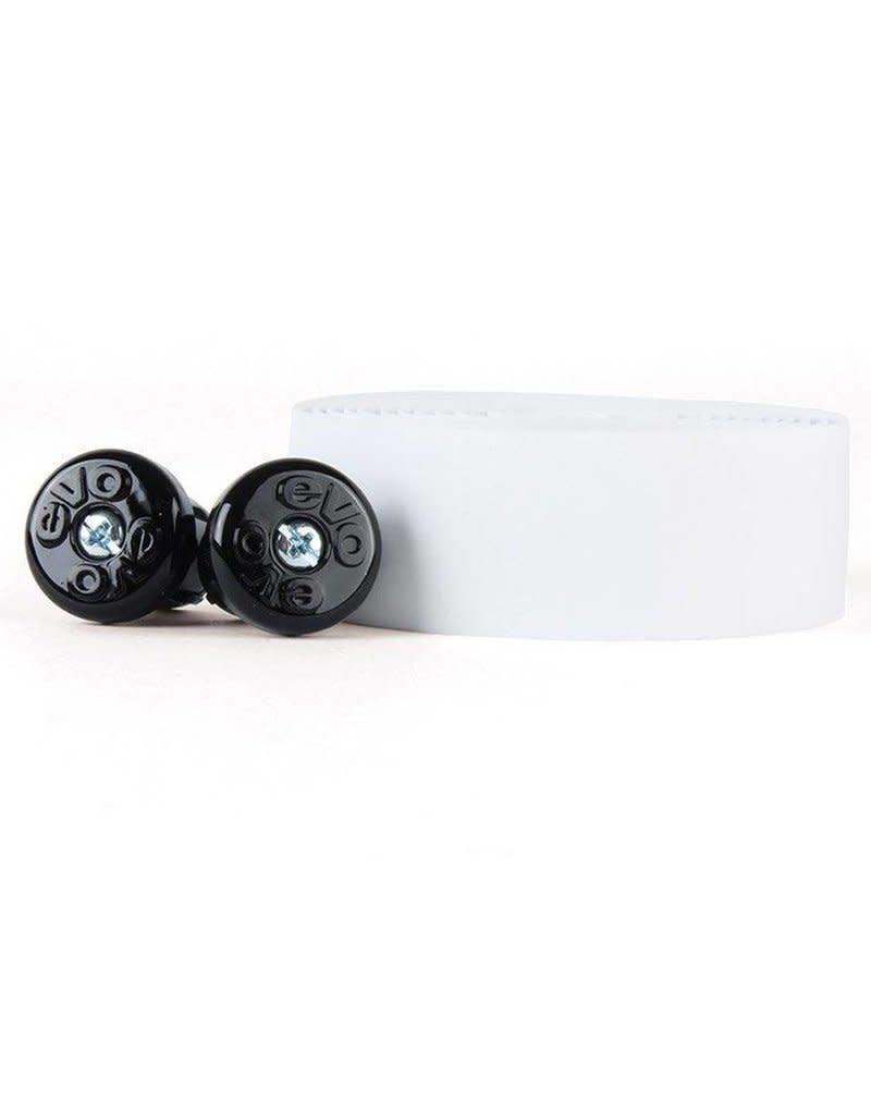 Evo Classic Handlebar Tape + Caps (White)