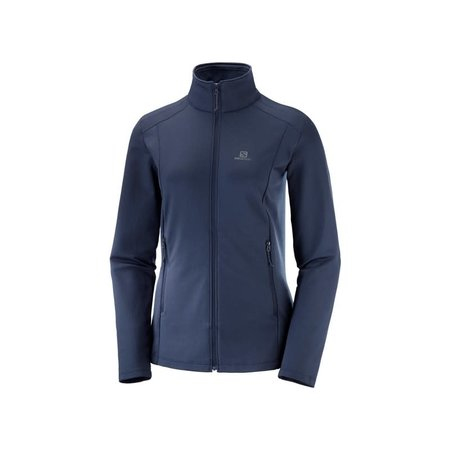 Night Sky Salomon Sweat /à Fermeture Eclair Femme OUTRACK FZ W Polyester Bleu LC1428400 Taille S