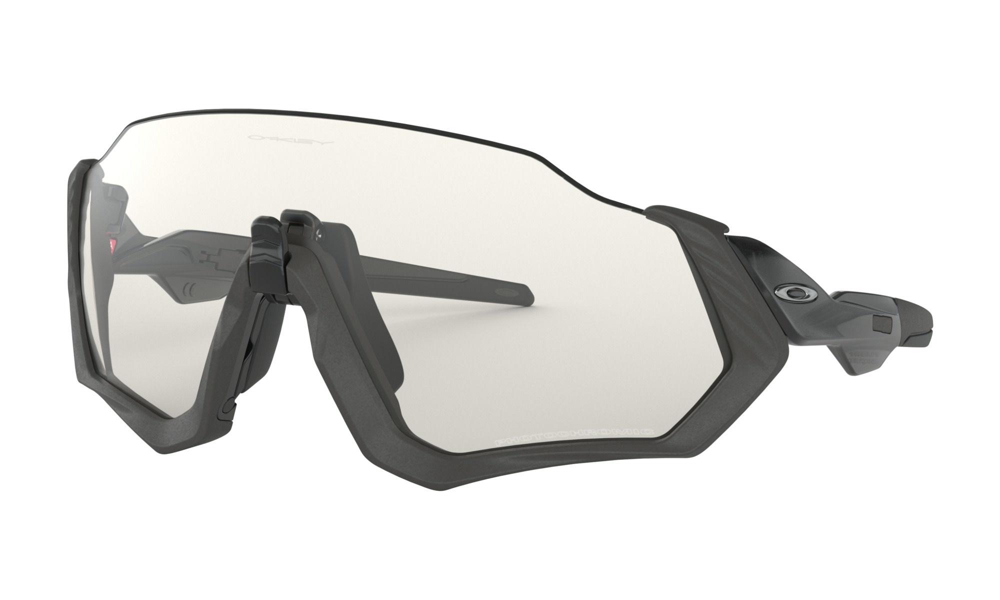 Lunette Oakley Flight Jacket Steel Clear Black Iridium Photochromic