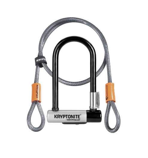 Cadenas Kryptonite Kryptolok Mini-7 a/ Flex Cable 4' NOIR